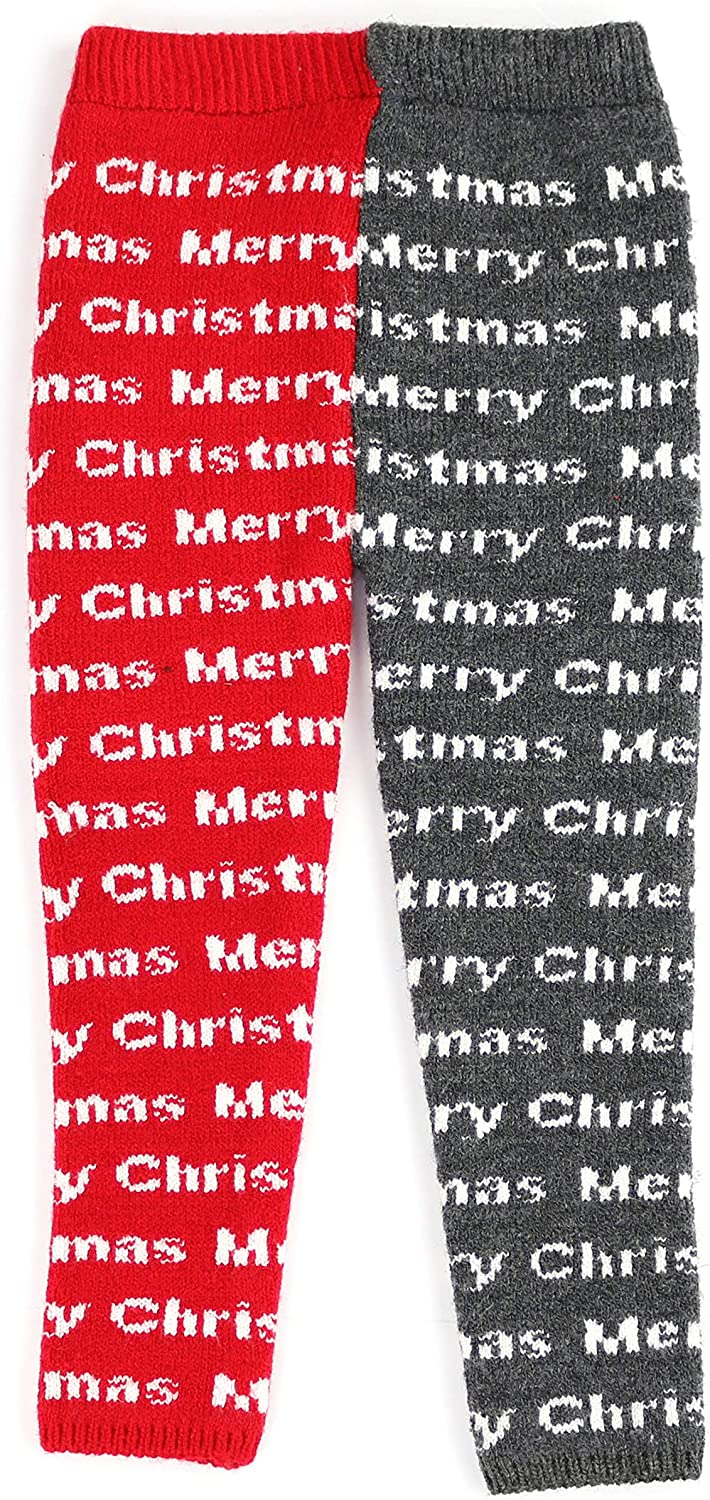 Digital Design Merry Christmas sissymini- Infants /& Toddlers 12M-4T Wool Knitted Winter-Thick Thermal Leggings