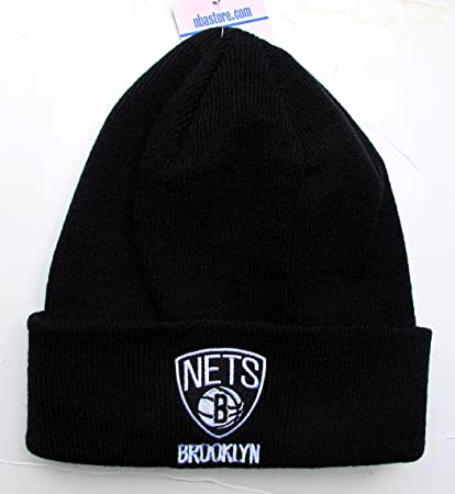 size 40 a12b9 00643 ... new style adidas brooklyn nets black cuff beanie hat nba knit basic  cuffed cap 889ee c5fd0