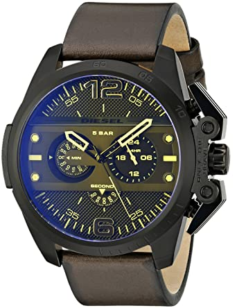 Diesel Mens DZ4364 Ironside Stainless Steel Watch with Leather Band