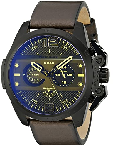 Diesel Men s DZ4364 Ironside Stainless Steel Watch with Leather Band
