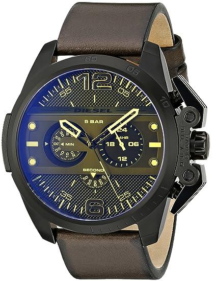 Diesel Reloj Cronógrafo para Hombre de Cuarzo con Correa en Cuero DZ4364: Amazon.es: Relojes