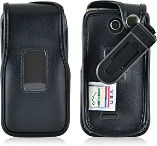 product image for Turtleback Fitted Case Made for LG Exalt 2 II VN370 Flip Phone Black Leather Rotating Removable Belt Clip Made in USA