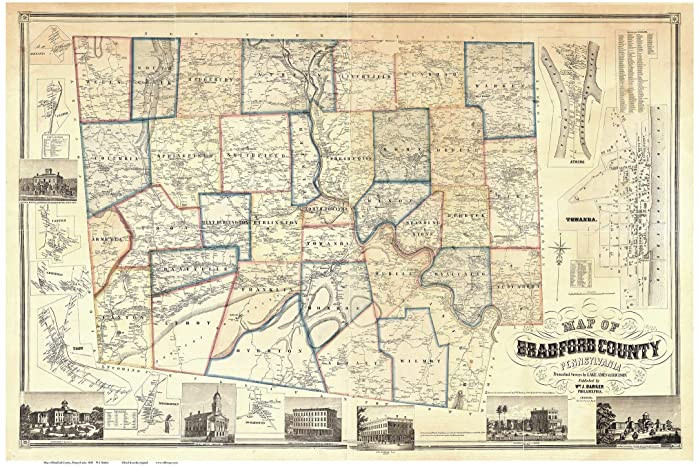 Amazon.com: dford County Pennsylvania 1858 - Wall Map ... on county map of atlanta, county map of nys, county map of oh, county map of dc, county map of sd, county map of ill, county map of us, county map of ireland, county map of ar, county map of ri, county map of ms, county map of northern california, county map of nd, county map of philadelphia, county map of mt, county map of wisc, county map of wy, county map of florida, county map of ne, county map of or,