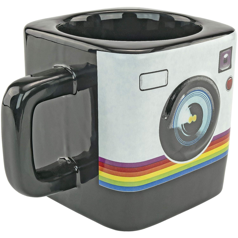 Noir Assez ODD Novelties Fon-10240/Camera Instant Print Style 255,1/gram Caf/é Th/é Mug