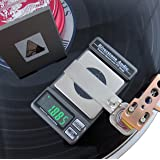 Riverstone Audio Record-Level Turntable Stylus Tracking Force Gauge/Scale, 0.005g Resolution, Measures VTF at Correct LP Record Level Height (2 mm to 3 mm) Color: Graphite