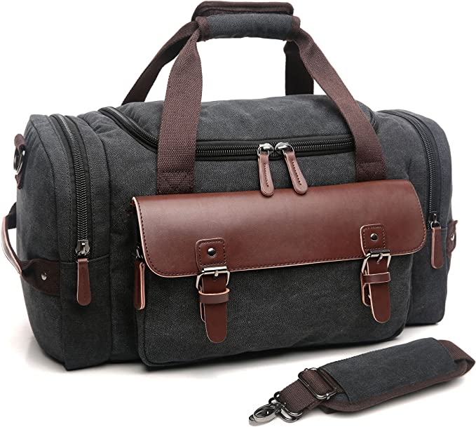 Bag Leather Vintage Duffle Travel Shoulder Women Weekend Tote Leather Retro New