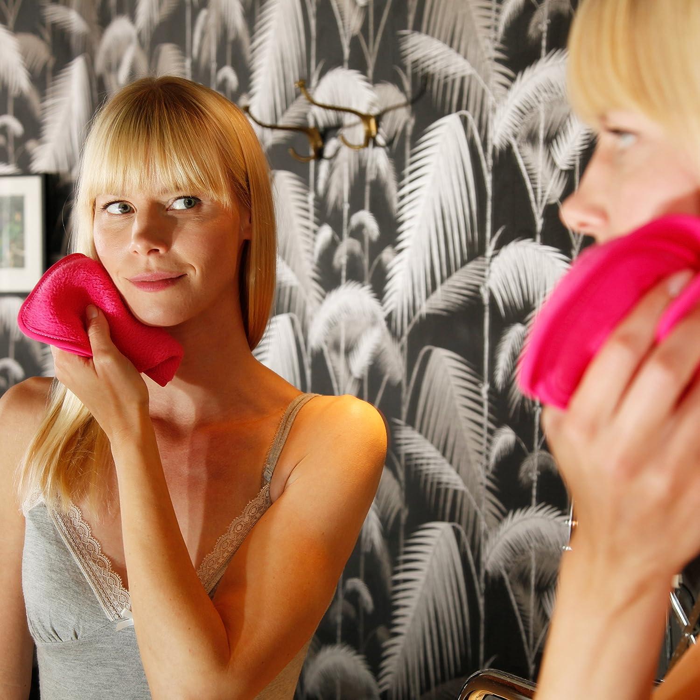 Lumaland Paño desmaquillador Toalla Facial de Microfibra cosmética en Set de 2 Respetuoso con la Piel (23 x 18 cm): Amazon.es: Juguetes y juegos