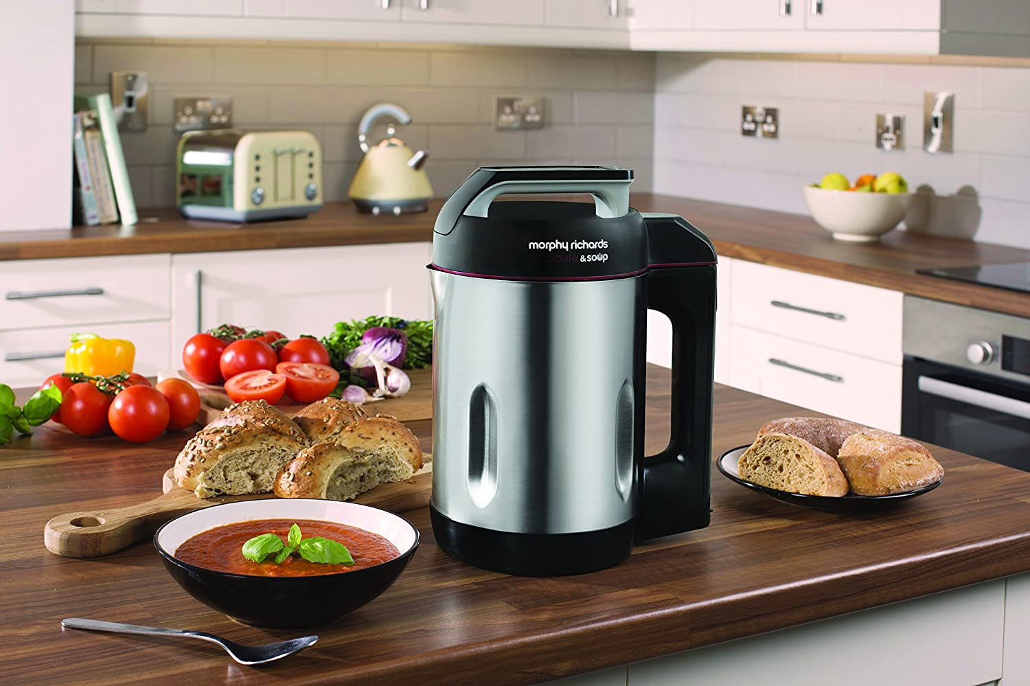 This Morphy Richards soup maker is an excellent choice and comes with a sauté function.