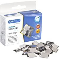 Rapesco Supaclip #60 Refill Clips - Stainless Steel [Pack of 100] - Silver