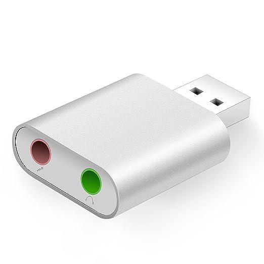 39 opinioni per GHB Scheda Audio Esterna Adattatore Audio Stereo USB in Alluminio Surround a 7.1