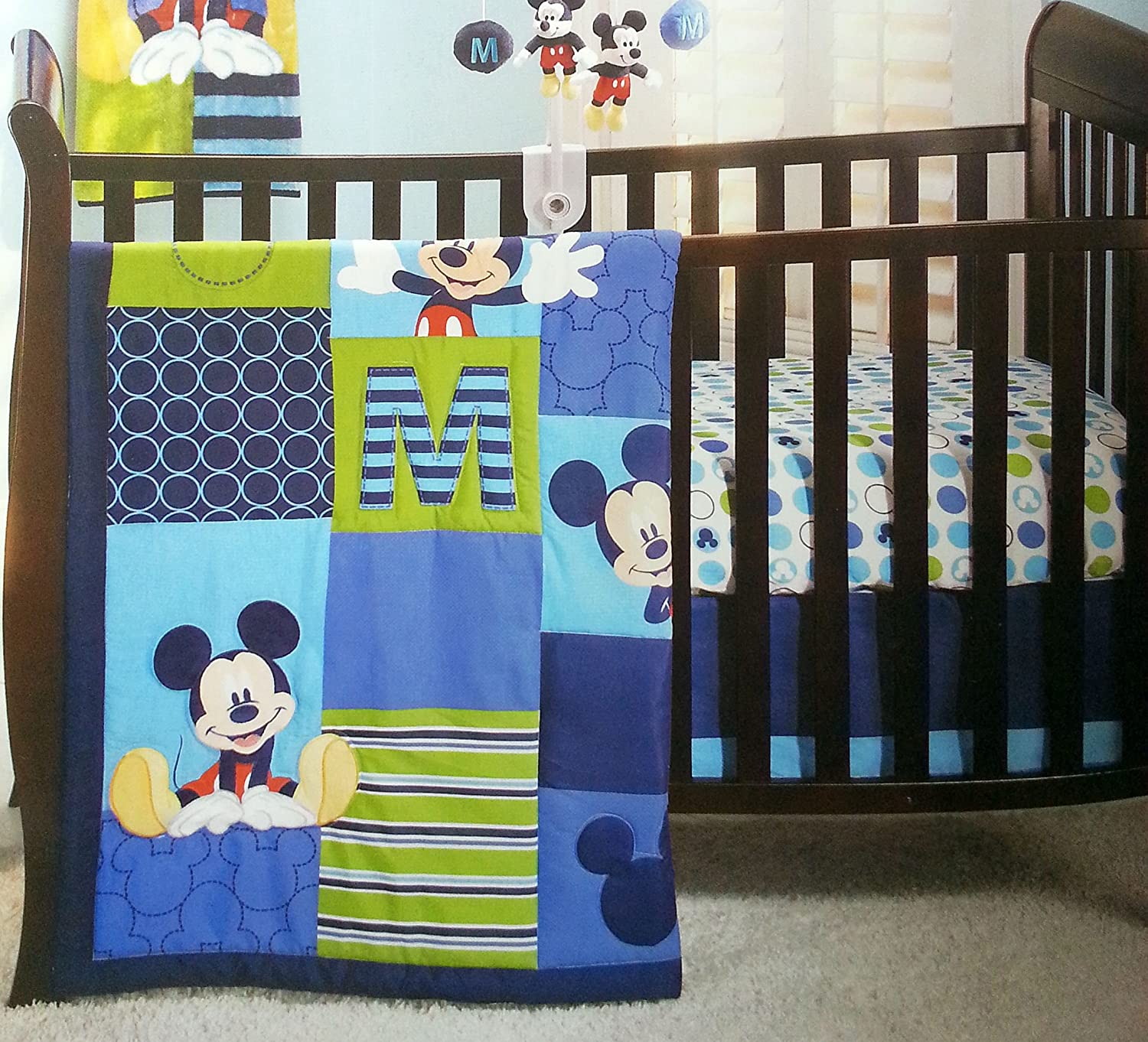 boy bed bedding s sets mouse disney mickey piece p qlt prod baby wid set infant hei spin crib