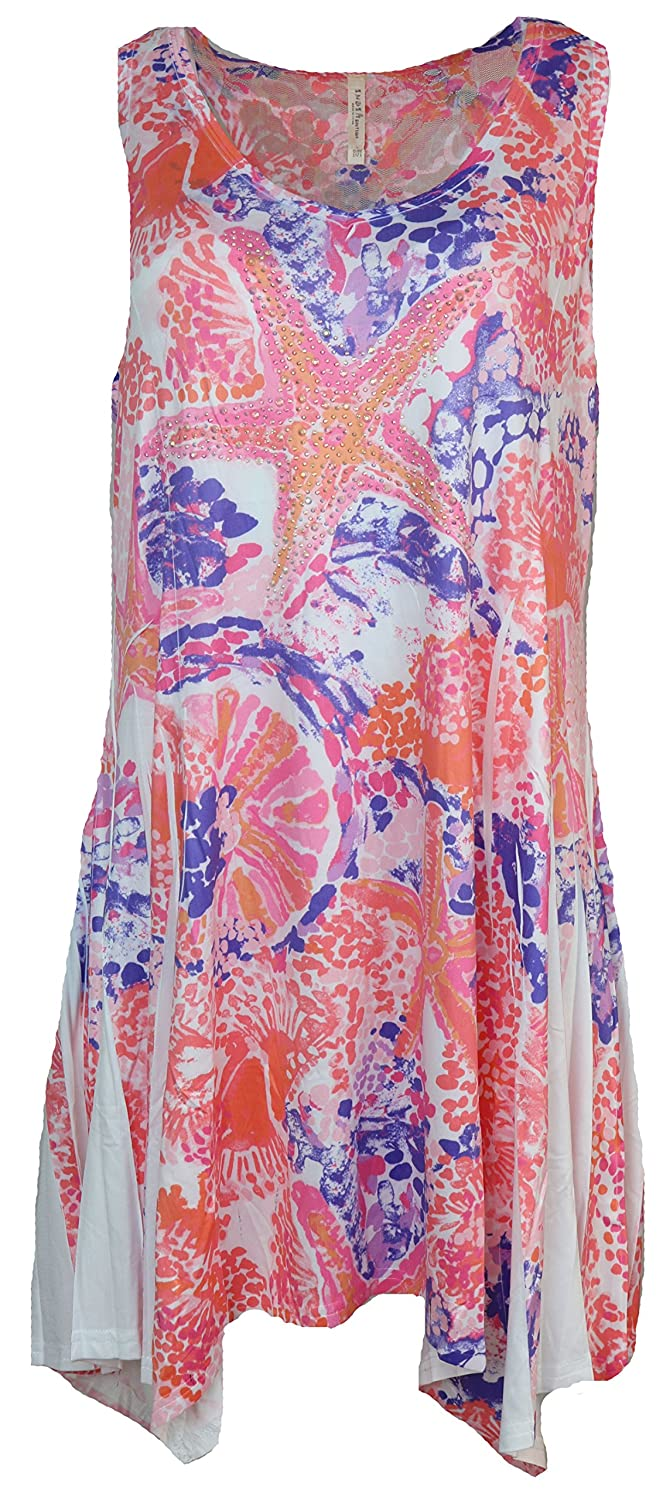 43bbb22778 India Boutique Women's Cover-up Dress with Bedazzled Starfish Design, One  Size (Pink) at Amazon Women's Clothing store: