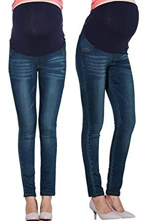 c59901cd85ac0 Sweet Mommy Maternity Slim Fit Stretch Jeans Pants at Amazon Women's ...