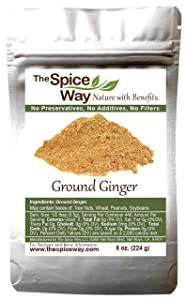 The Spice Way Ginger Powder- ( 8 oz ) a pure dry ground powdered root