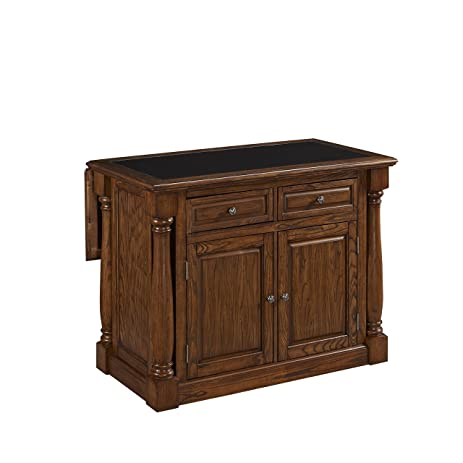 Home Styles 5006 945 Monarch Kitchen Island With Granite Top, Oak Finish