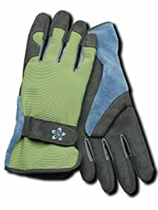 Magid TE166T-L Terra Collection Deluxe Spandex Back Gardening Gloves - Womens Large