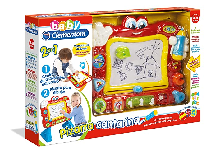 Baby Clementoni-La La Pizarra cantarina Activity, (55131.6)