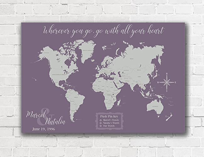 Amazon world map with push pins personalized world map push pin world map with push pins personalized world map push pin map on canvas world travel map gumiabroncs