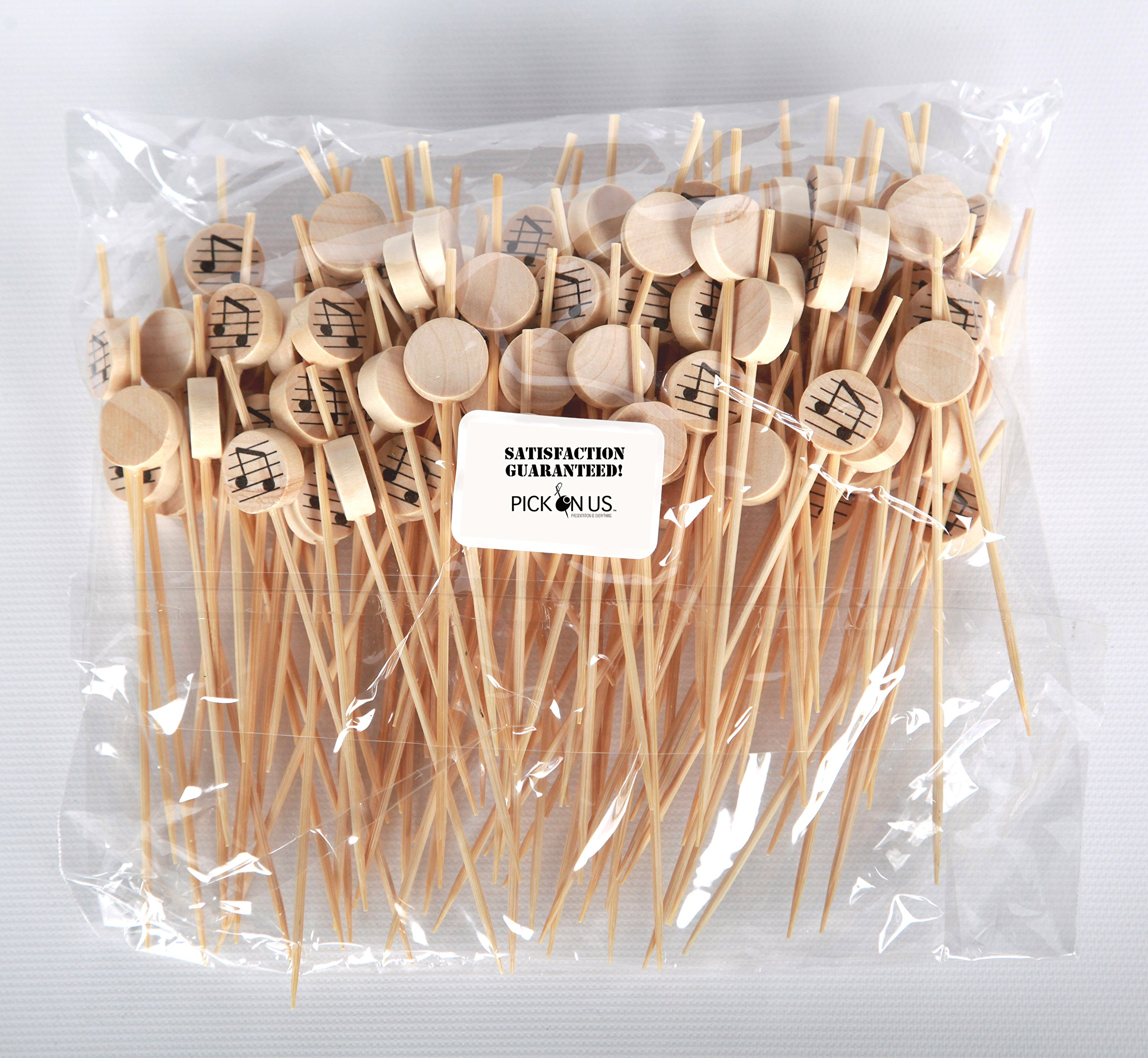 Music Note Appetizer or Sandwich Picks / Swizzle Stick - 4 3/4'' - 100ct by Pick On Us (Image #2)