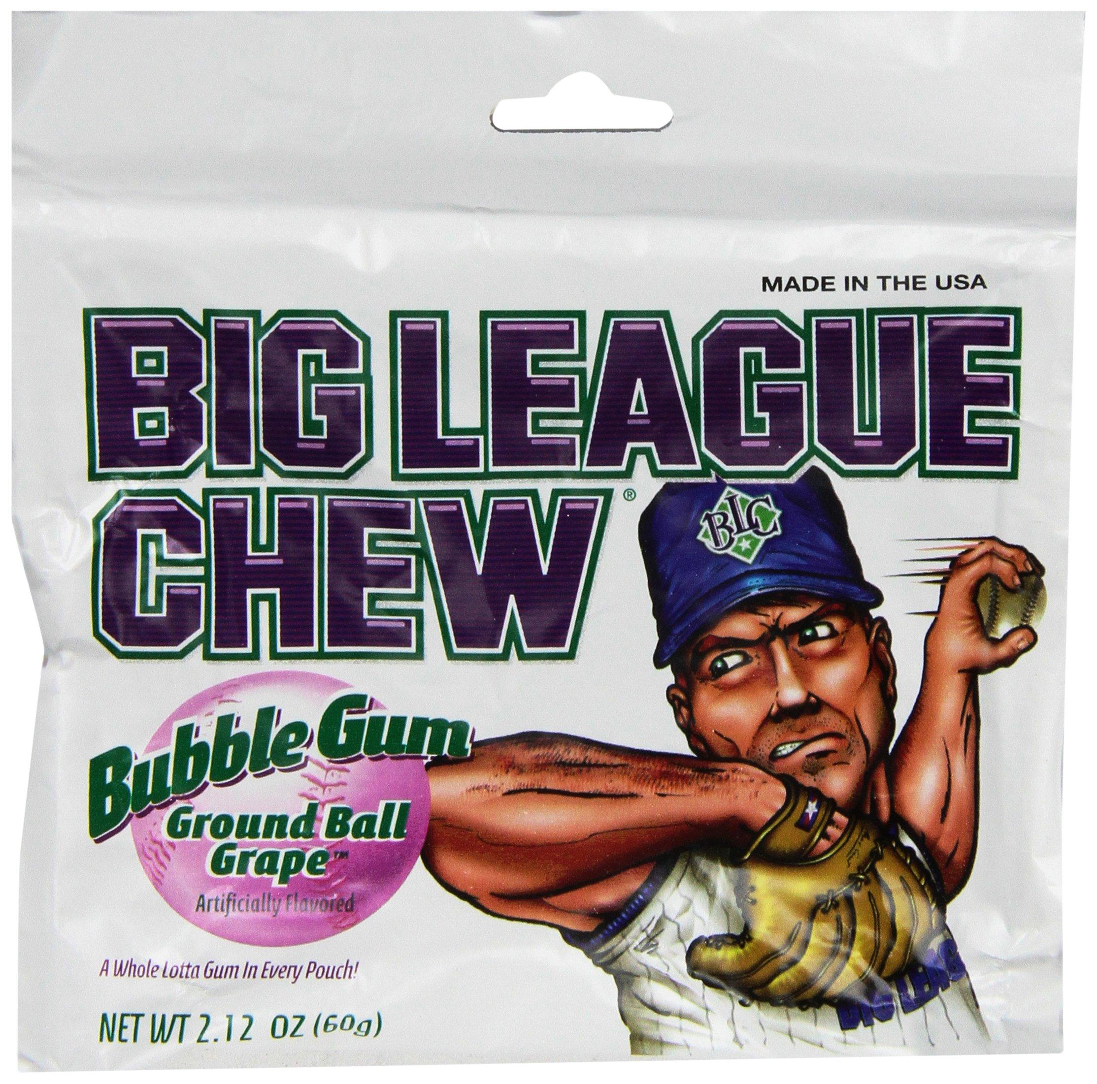 BIG LEAGUE CHEW (bubble gum) GRAPE 12 pack