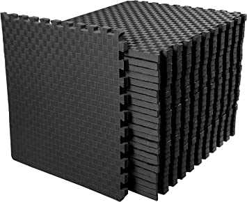 "120 SQFT BLACK 1//2/"" THICK INTERLOCKING FOAM FLOOR PUZZLE TILES MAT gym exercise"