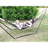 Ultracamp Spinel Double Swinging Hammock on Metal Stand