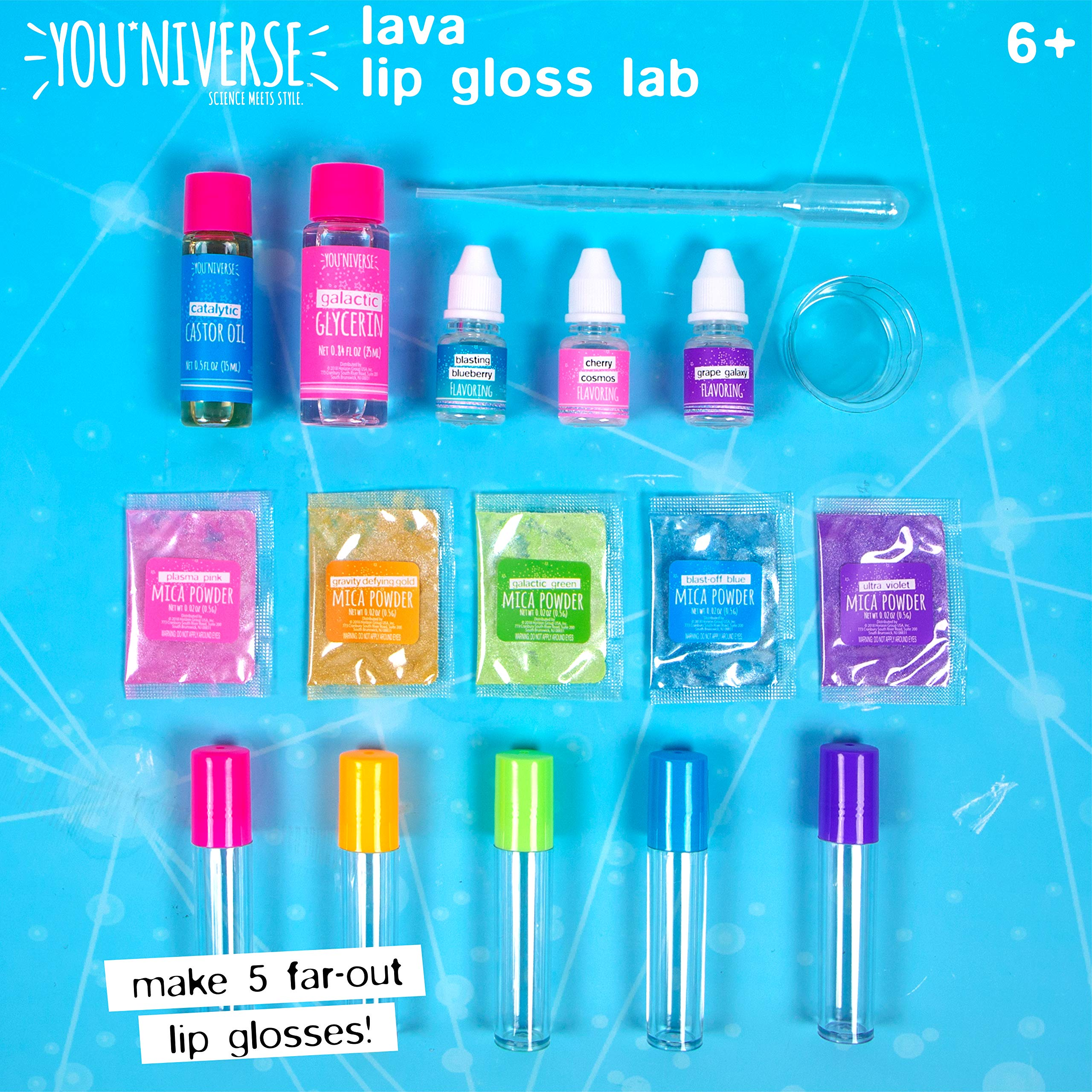 Youniverse Create Your Own Lava Lip Gloss Lab Craft Kit, Assorted