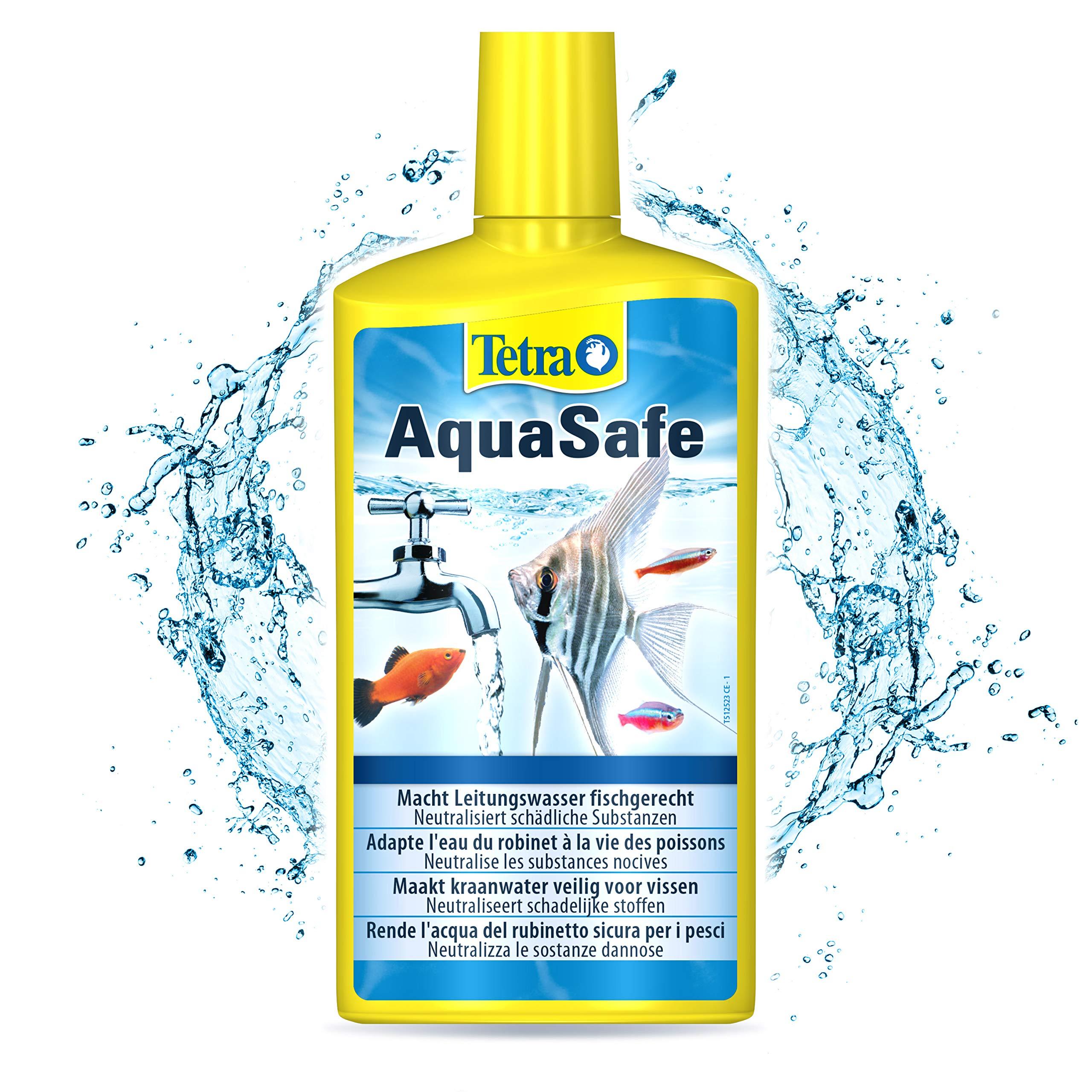 TETRA AquaSafe - Conditionneur d'Eau Naturel pour Poissons Tropicaux -Agit en 5 mn - Eau Douce et Eau de Mer - Anti-Chlore- 500ml product image