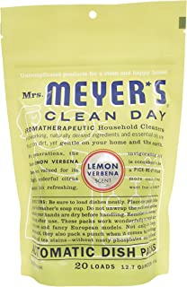 product image for Mrs. Meyer's Clean Day Automatic Dish Packs, Lemon Verbena, 20 ct, (Pack of 6)