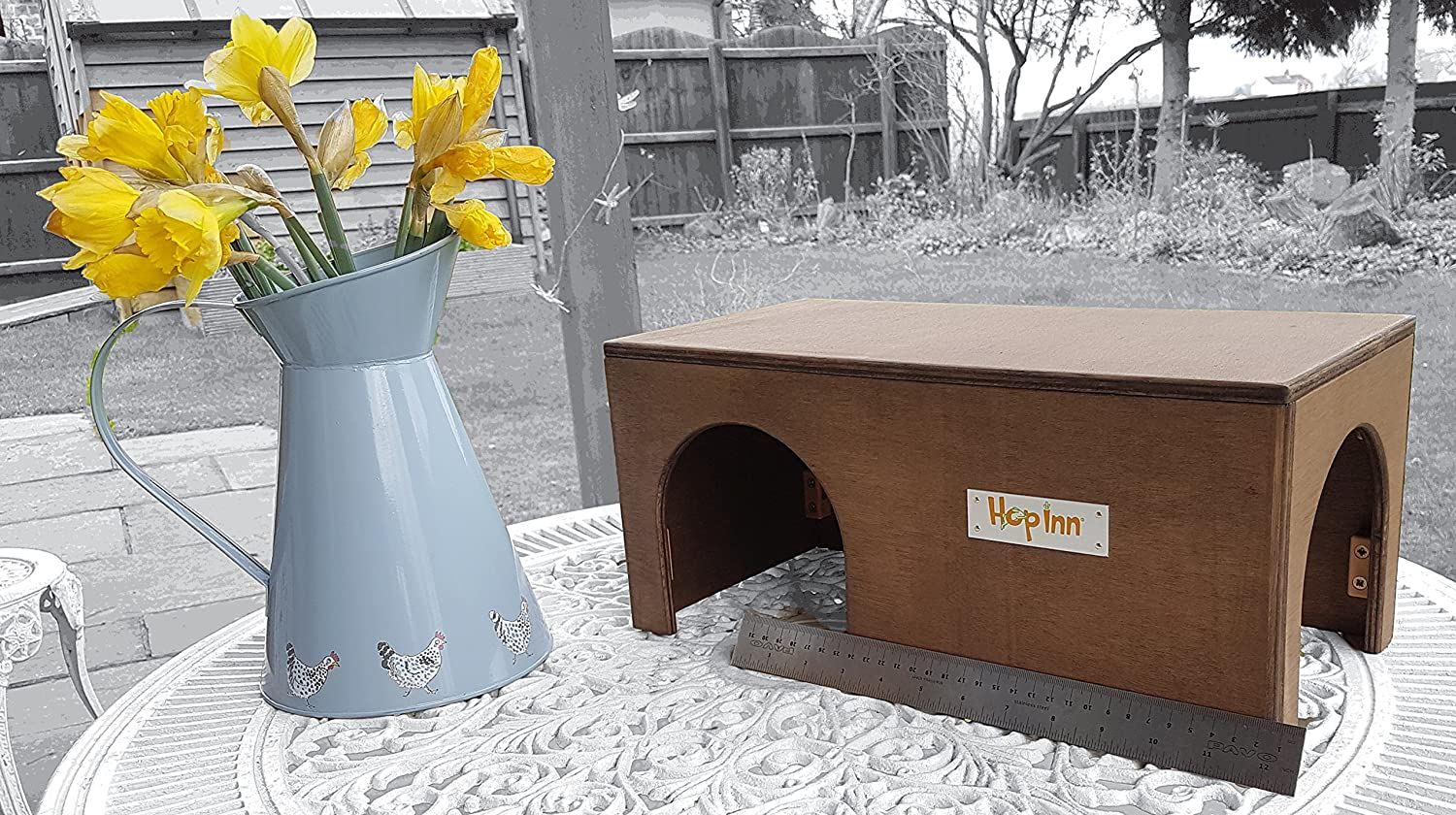 Hop Inn' Guinea Pig House Shelter Tunnel (Green) - 40 cm L x 20 cm W x 18.5 cm H Indoor or Outdoor 0891