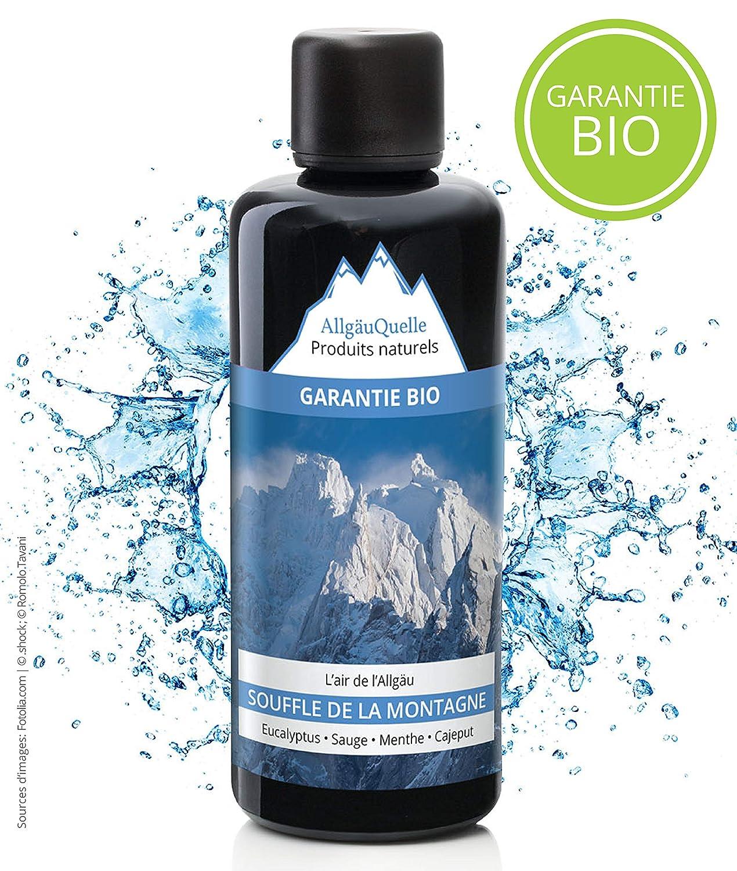 Infusion pour Sauna naturelle avec 100% Huiles essentielles Bio/Souffle de la Montagne Eucalyptus - Sauge - Menthe - Cajeput 100 ml Allgäuquelle Naturprodukte GmbH 10002