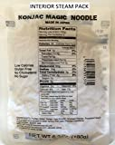 Easy to Prepare, No Boiling, Shirataki Magic Noodles [4-pk vaccum-sealed steam pack], Non-GMO, Gluten-Free, No Drain/Rinse needed, Vegan, Konjac, Konnyaku, Low Carb, Low Calories, Instant