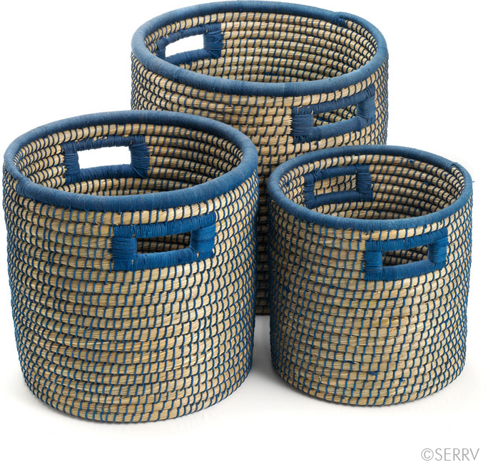 Eco Friendly - Blue-Weave Nesting Baskets