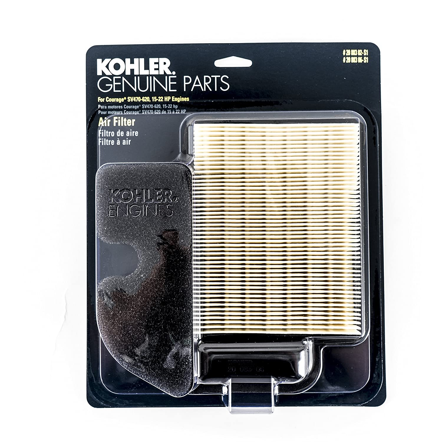 Air Filter For Kohler Courage Single Cylinder 4 Cycle 22 Hp Engine Diagram Engines 2088302s1c Lawn Mower Filters Garden Outdoor