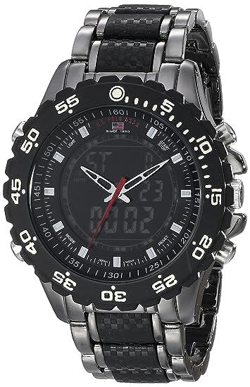 a66a1fcb4c6 Amazon.com  U.S. Polo Assn. Sport Men s US8170 Black and Gunmetal-Tone  Bracelet Watch  Watches