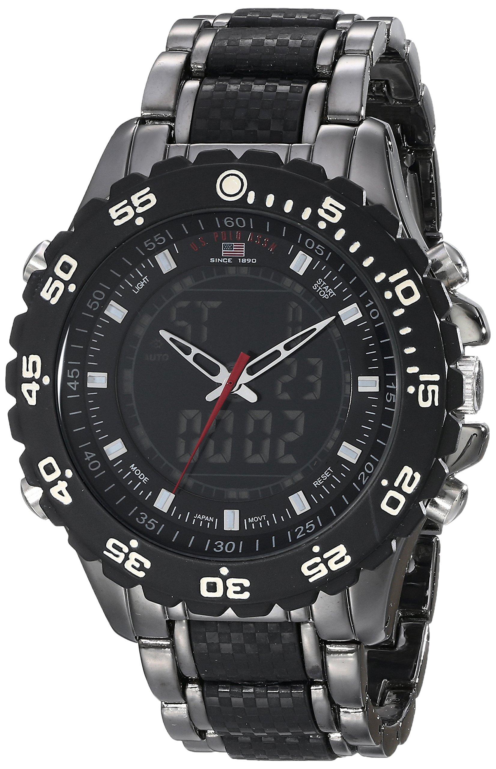 Sport Men's US8170 Black and Gunmetal-Tone Bracelet Watch