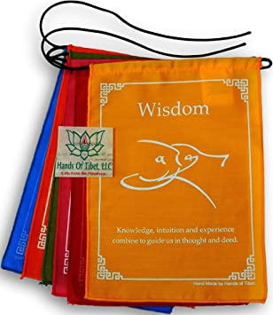 Amazoncom Hands Of Tibet Tibetan Affirmation Prayer Flags