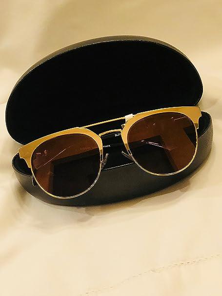 950c9938e1 BALMAIN BL 2109 Black Gold Flash Mirror Clubmaster Metal Sunglasses BL2109   Amazon.ca  Clothing   Accessories
