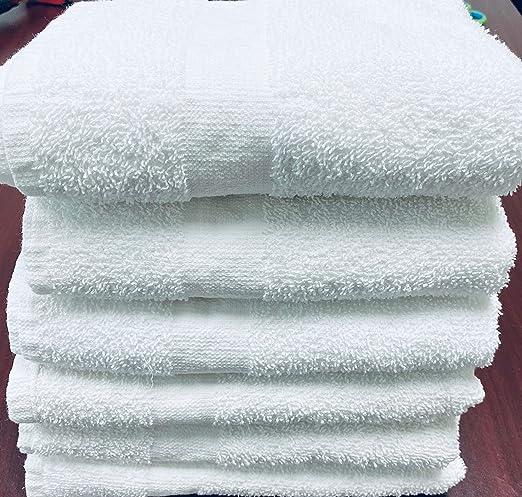 6 NEW GREY HOTEL TOWELS 22X44 6# PER DOZEN GYM SPA SALON TOWELS
