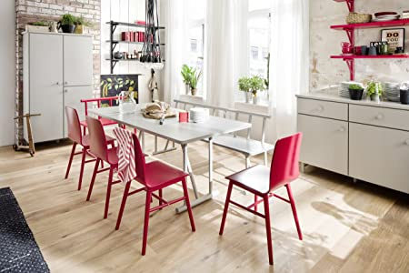 42 x 84 x 77 cm rosso rilaccati Tenzo 4030-928 grano legno panca Designer