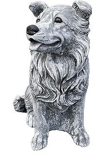 Hund Lassy Collie H/öhe 80 cm Sch/äferhund Edelrost Rost Metall Gartendekoration Original Pflegeanleitung von Steinfigurenwelt