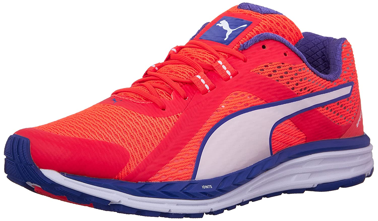 887f46089e573a Puma Women s Speed 500 Ignite Red Blast Royal Blue White Ankle-High Running  Shoe - 9M  Amazon.in  Shoes   Handbags