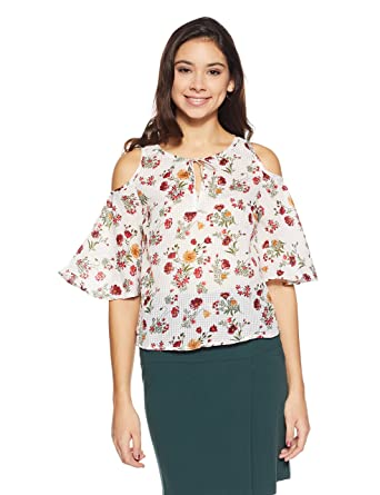 918f32c5fb9712 Honey by Pantaloons Women's Floral Regular Fit Top: Amazon.in: Clothing &  Accessories