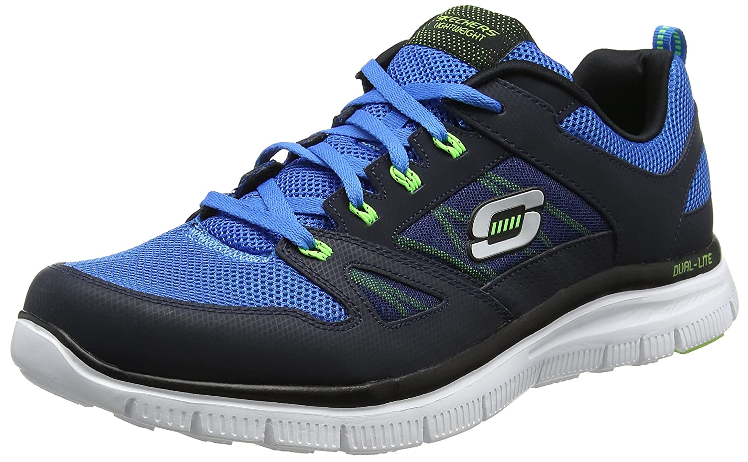 Skechers Herren Flex Advantage Sneaker  44 EU|Blau (Navy/Blue)