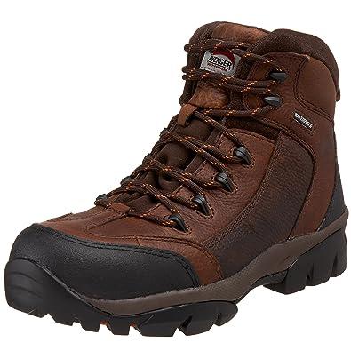 Avenger 7244 Leather Waterproof Comp Toe No Exposed Metal EH Work Boot ,Brown,7