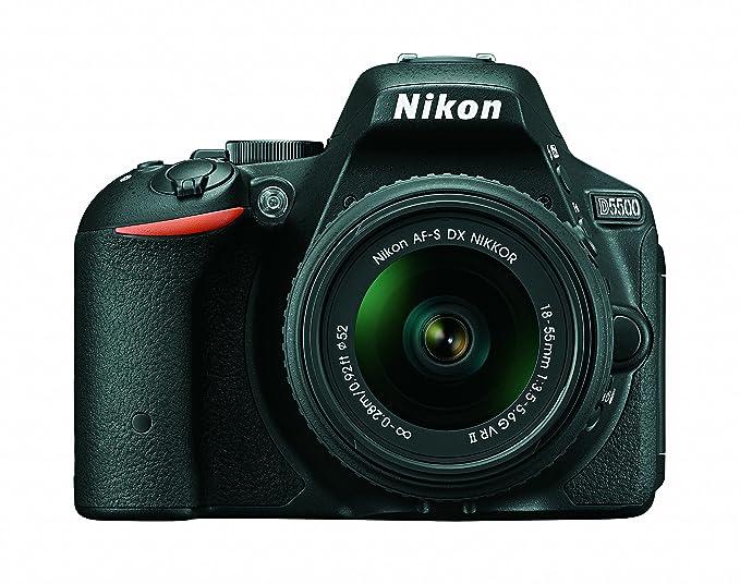 Nikon D5500 DX Format Digital SLR Camera + AF P 18 55mm VR Lens Kit + Memory Card + Camera Bag Digital SLRs