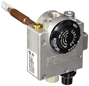 """Robertshaw 110-202 Water Heater Thermostat with 1-3/8"""" Shank, Natural Gas, 4"""" W.C"""