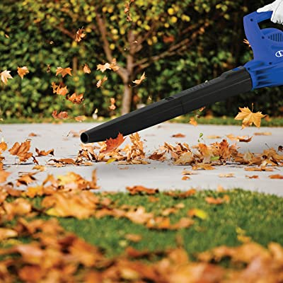 Sun Joe SBJ597E-SJB 6-Amp 155 MPH Electric Leaf Blower, Dark Blue