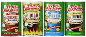Tony Chachere Seasoning Blends, Variety Pack, 4 Count