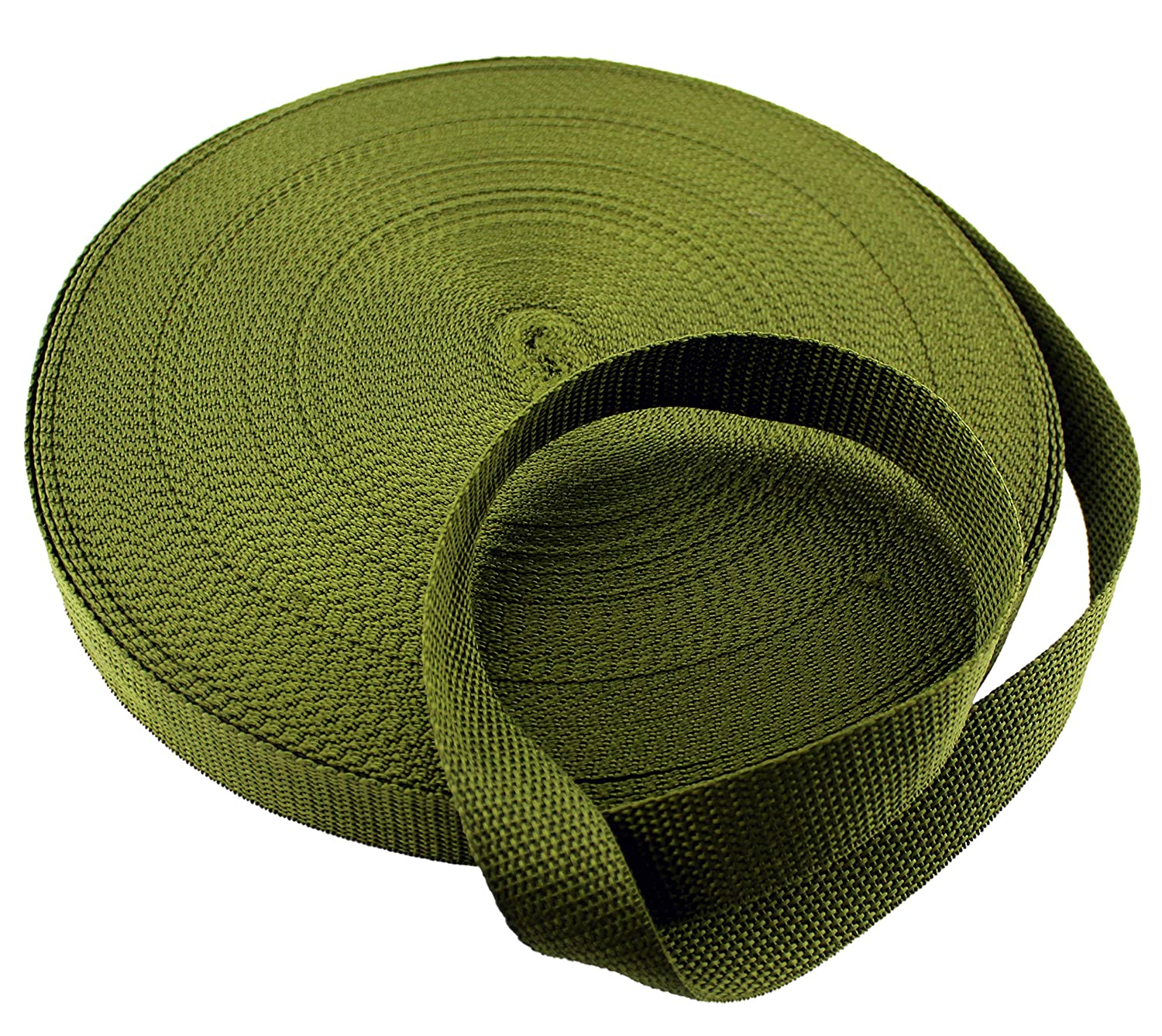 """White Polypropylene Webbing 50 Yards x 1-inch; 1"""" Wide Polypro Strap Webbing; Great for Bags, Outdoor Gear; Collars, Leashes, Halters, Sporting Gear & More Cornucopia Brands 4336912894"""